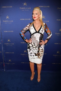 Christina Aguilera attends the two-year anniversary celebrations of Hakkasan Nightclub at the MGM Grand Hotel & Casino in Las Vegas