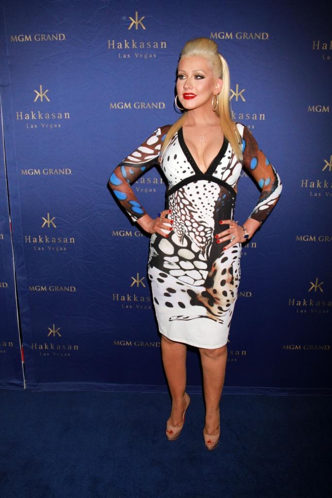 Christina Aguilera attends the two-year anniversary celebrations of Hakkasan Nightclub at the MGM Grand Hotel & Casino in Las Vegas