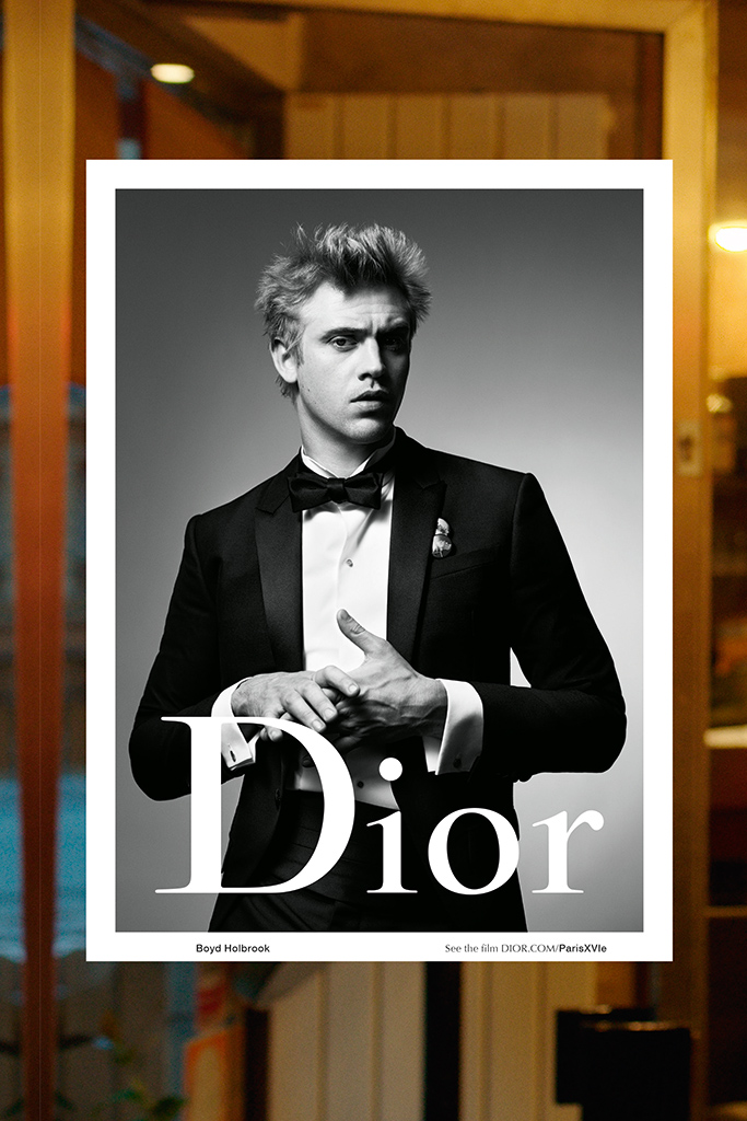 Boyd Holbrook in the Fall 2015 Dior ad.