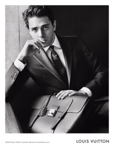 Xavier Dolan in the Louis Vuitton fall campaign.