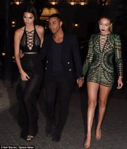 Gigi Hadid+Kendall Jenner+Olivier Rousteing