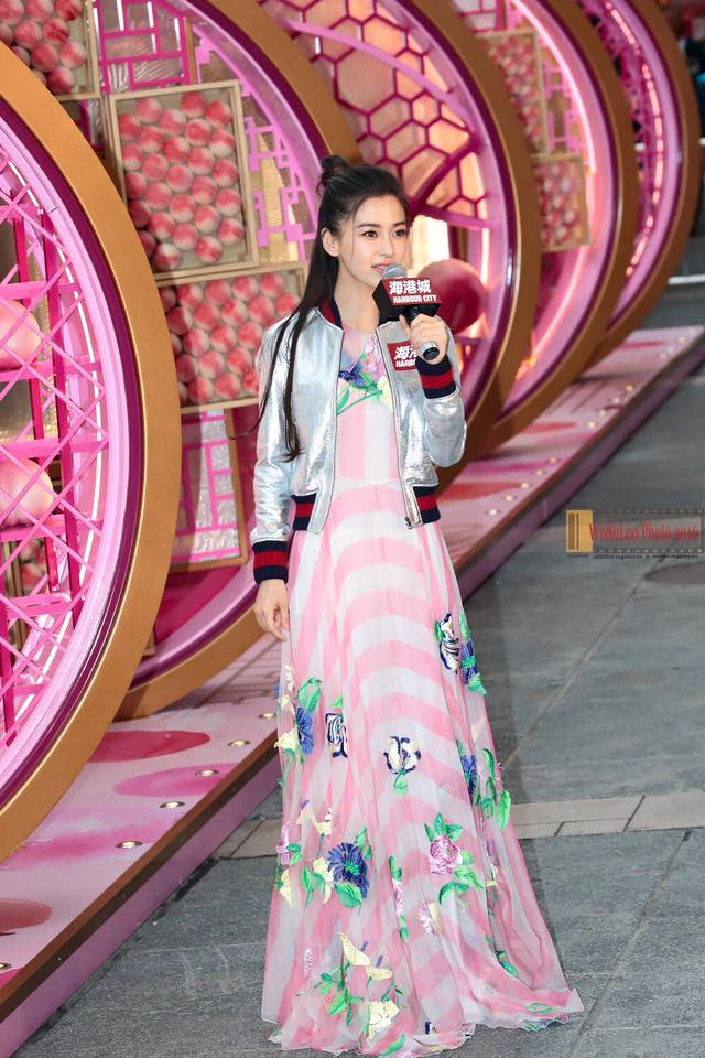 Angelababy in Blumarine Spring 2016 and Gucci