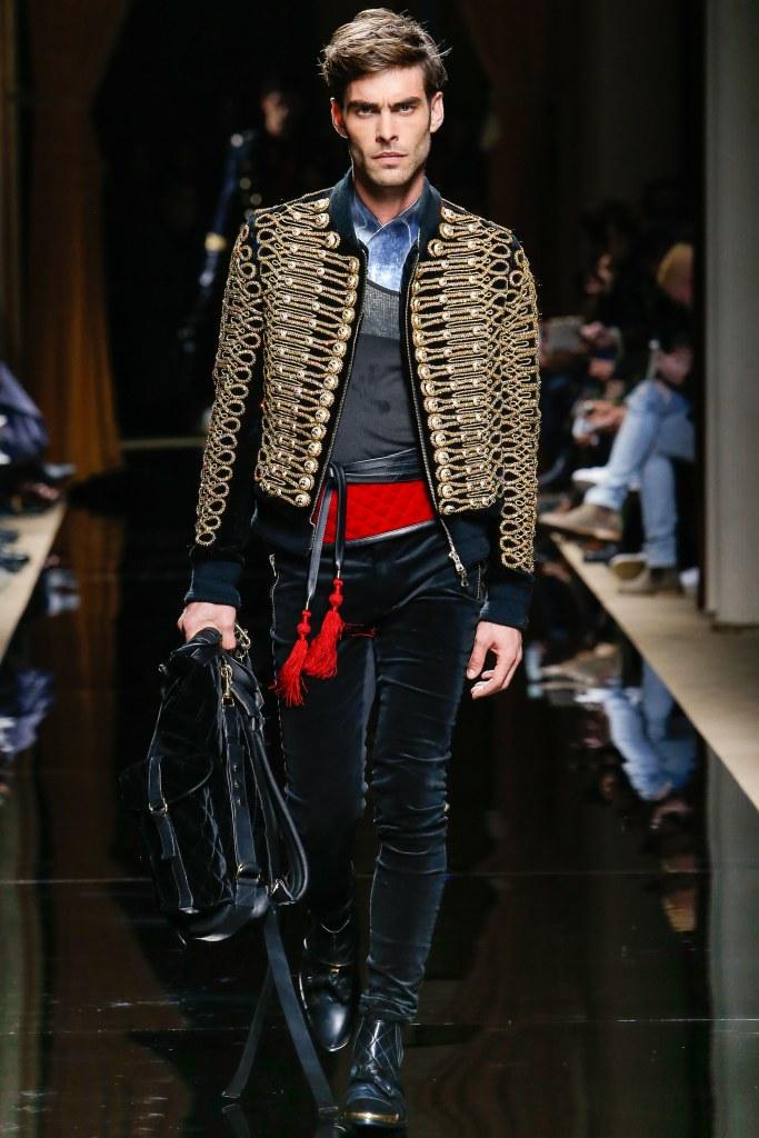 Balmain Fall 2016 Menswear Look 1
