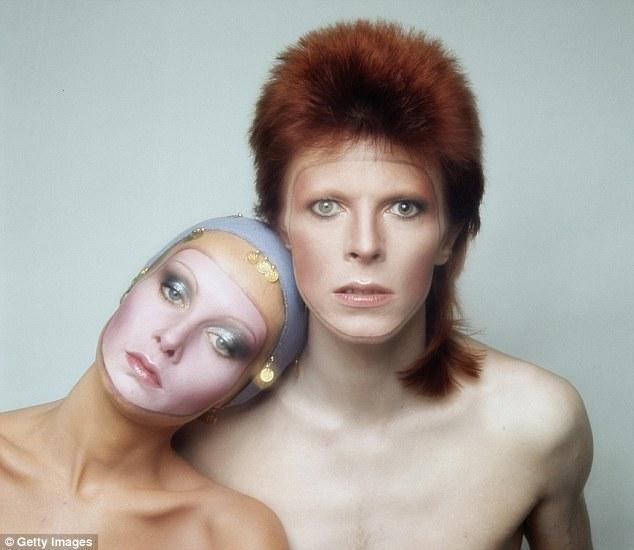David Bowie and Twiggy