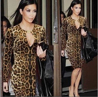 kim kardashian animal print dress