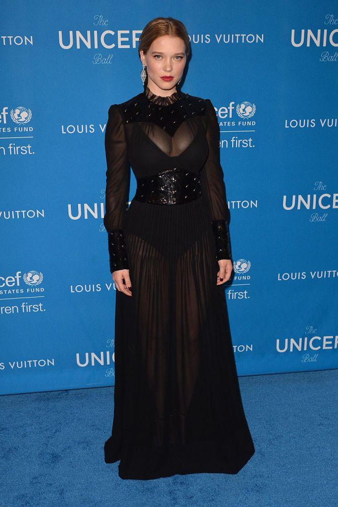 Léa Seydoux in Louis Vuitton -2016 UNICEF Ball-1