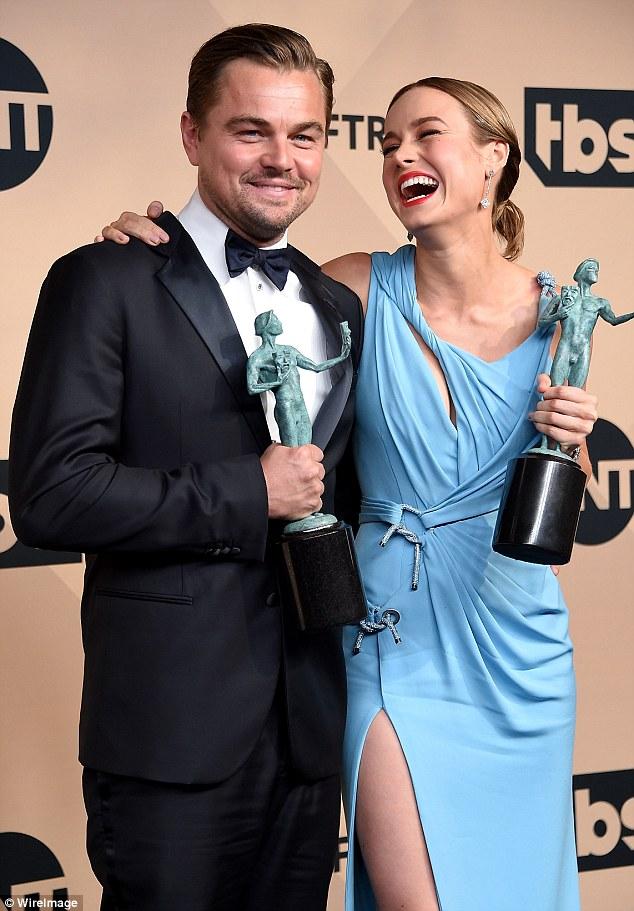 Leonardo DiCaprio and Brie Larson 2016 SAG Winners