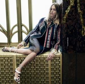 Sasha Pivovarova X Prada Spring 2016 Campaign -2016.1.3-