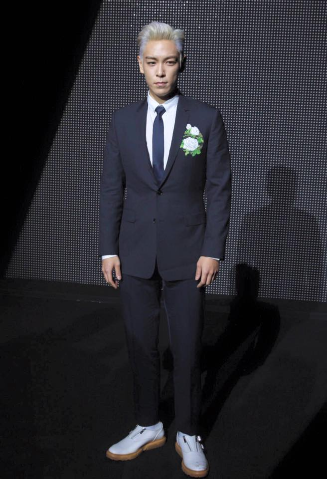 T.O.P. in Dior Homme Spring 2016