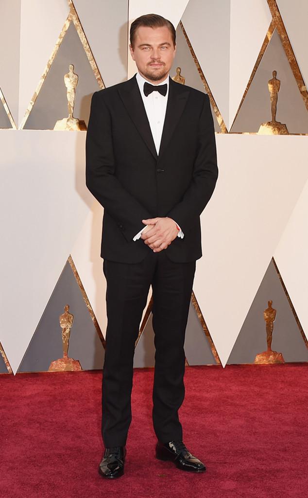 2016 Oscars Leonardo DiCaprio in Giorgio Armani