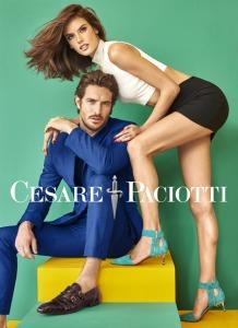 Alessandra Ambrosio & Justice Joslin X Cesare Paciotti Spring 2016 Campaign -2016.2.3-