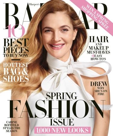 Drew Barrymore X Harper's Bazaar March 2016-Cover