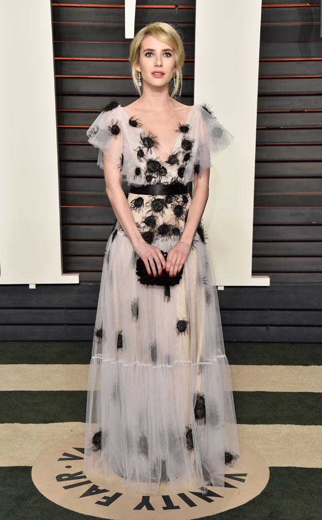 Emma Roberts in Yanina Haute Couture Spring 2016
