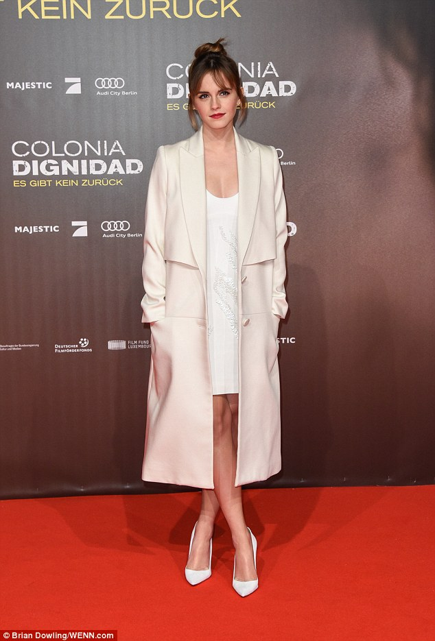 Emma Watson in Maiyet Spring 2016 & Benho Fall 2015 & Manolo Blahnik