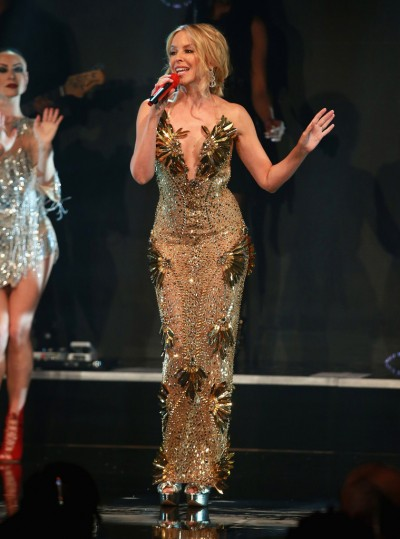 Kylie Minogue in The Blonds Spring 2016