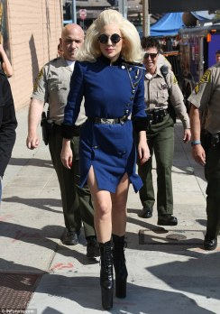 Lady Gaga in Ronald Van Der Kemp Spring 2016 Semi Couture-1