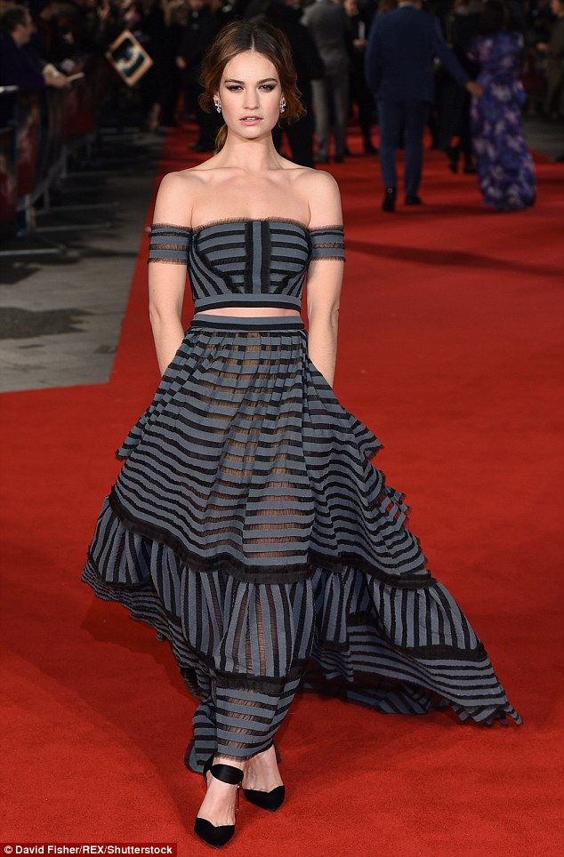 Lily James in Erdem Spring 2016-1