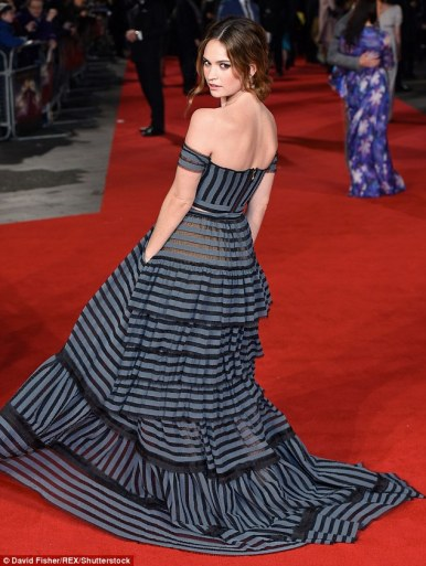 Lily James in Erdem Spring 2016