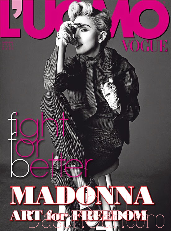 Madonna L'uomo Vogue May-June 2014-Cover
