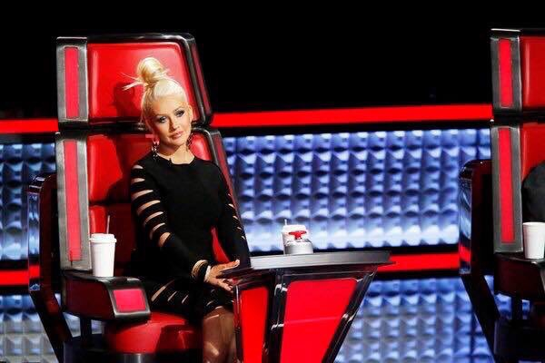 Christina Aguilera in Cushine Et Ochs Cutout Dress