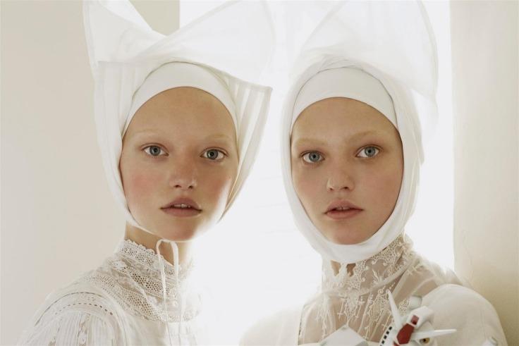 Gemma Ward & Sasha Pivovarova Vogue Italia March 2006