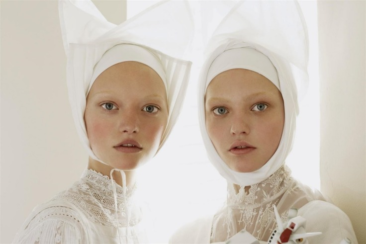 Gemma Ward & Sasha Pivovarova Vogue Italia March 2006