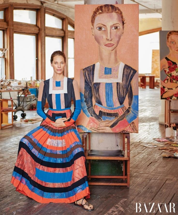 Harper's Bazaar US April 2016-Christy Turlington