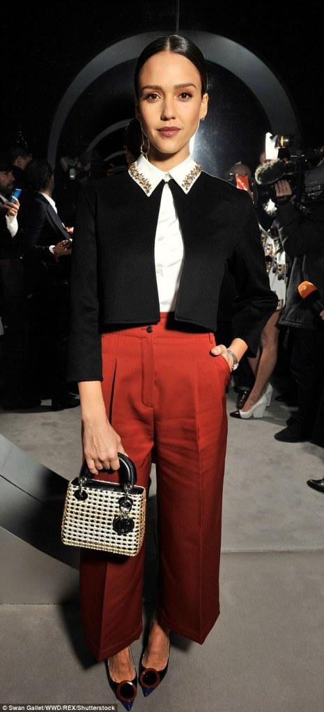 Jessica Alba in Christian Dior