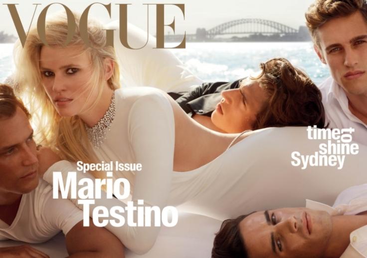Lara Stone Vogue Australia April 2016-Cover