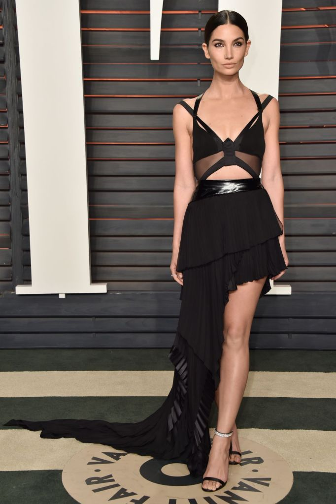 Lily Aldridge in Alexandre Vauthier Spring 2016 Couture