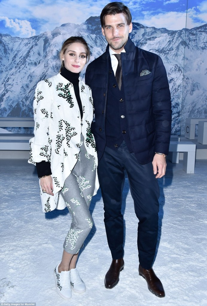 Olivia Palermo in Moncler Gamme Rouge Spring 2016-1
