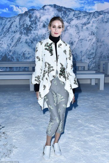 Olivia Palermo in Moncler Gamme Rouge Spring 2016