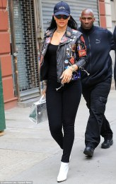 Rihanna in The Black Leather Jacket by Dries Van Noten
