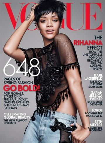 Rihanna Vogue US March 2014 Cover
