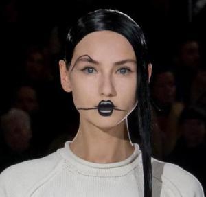 Yohji Yamamoto Fall 2016 Makeup -2016.3.5-