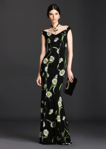 Dolce & Gabbana Spring 2016 Daisy Dress -2016,4,17-