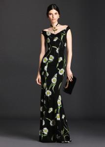 Dolce & Gabbana Spring 2016 Daisy Dress -2016,4,17-