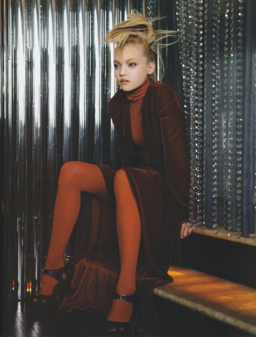 Gemma Ward & Du Juan Patrick Demarchelier Vogue Paris October 2005-12