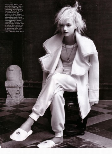 Gemma Ward & Du Juan Patrick Demarchelier Vogue Paris October 2005-13