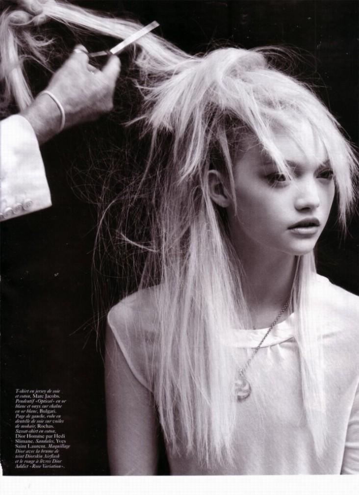 Gemma Ward & Du Juan Patrick Demarchelier Vogue Paris October 2005-14