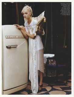 Gemma Ward & Du Juan Patrick Demarchelier Vogue Paris October 2005-6