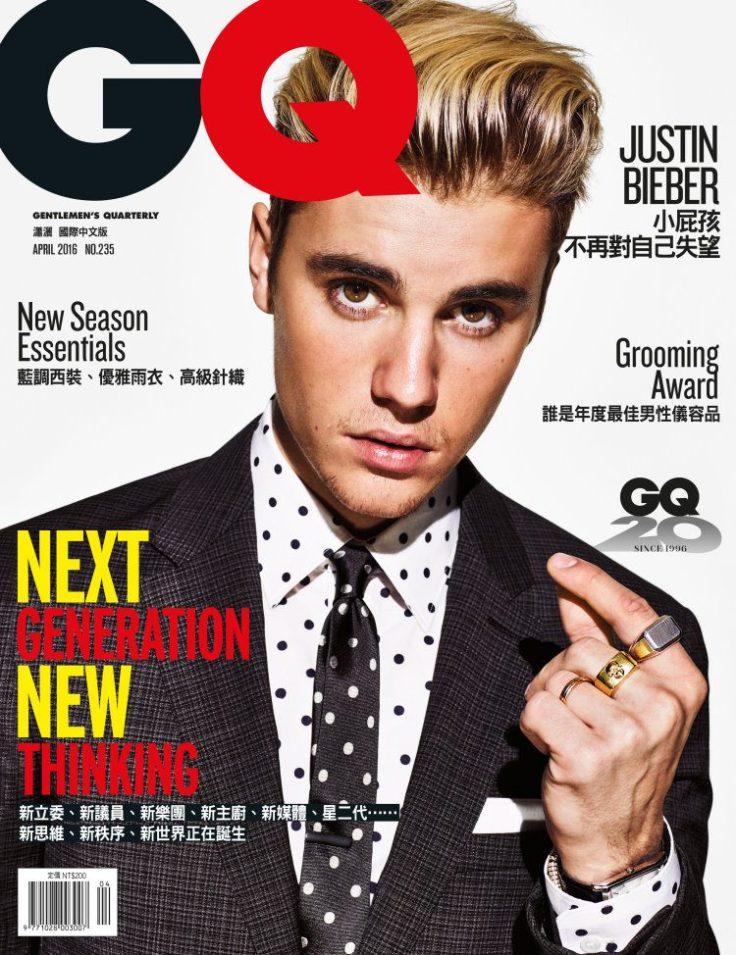Justin Bieber GQ Taiwan April 2016 Cover