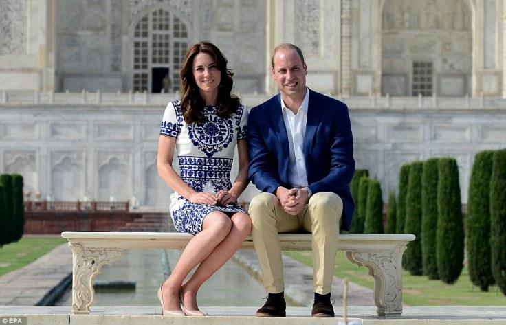 Kate Middleton in Naeem Khan Resort 2015