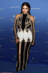 Hakkasan Las Vegas Nightclub 3rd Anniversary Party— Kim Kardashian -2016.4.10-