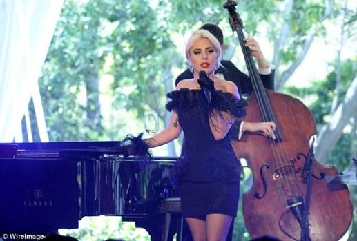 Lady Gaga in Christopher Kane Pre-Fall 2016