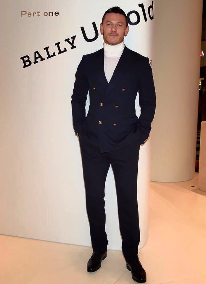 Luke Evans in Bally Spring 2016 Menswear