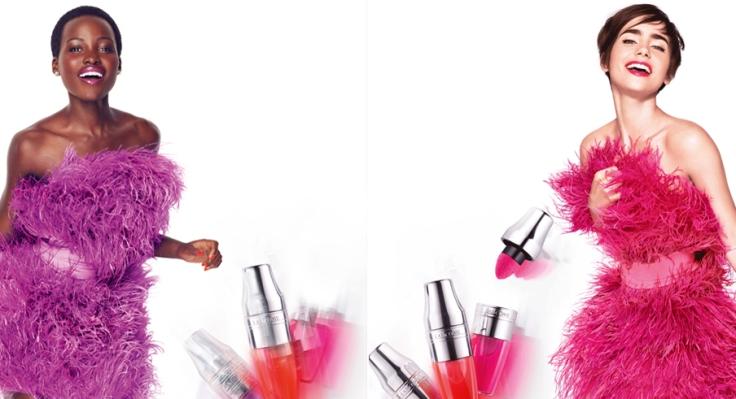 Lupita Nyong'o & Lily Collins Lancôme Juicy Shaker 2016 Campaign