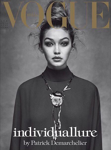 Vogue Italia April 2016 Cover-Gigi Hadid