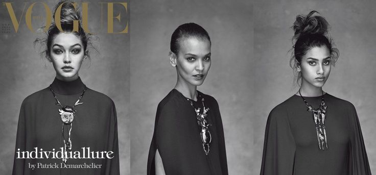 Vogue Italia April 2016 Cover-Liya Kebede & Mica Arganaraz