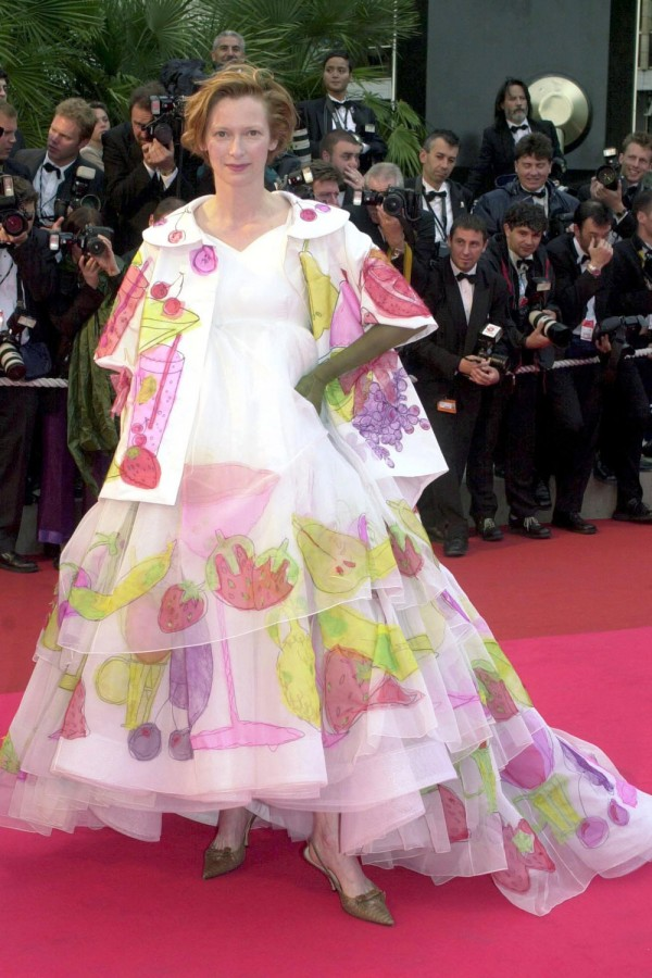 2001 Cannes Tilda Swinton in Christian Dior Spring 2001 Couture